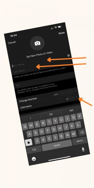 Telegram App Change Name & Username Screenshot (1)